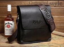 New Men Genuine Leather Handbag Briefcase Shoulder Messenger Bags Black