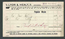 1911 PC Lyon & Healy Chicago IL Dealers In Popular Music