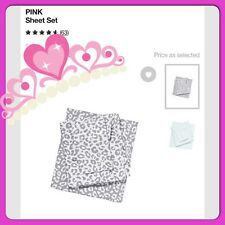 New Victoria's Secret PINK Grey Animal Leopard Sheet Set Bedding Twin NIP Dorm