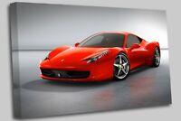 Ferrari 458 Italia Cars Red - Canvas Wall Art Picture Print