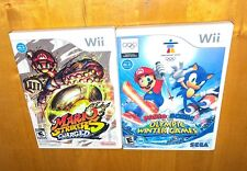 Nintendo Wii Games Mario Strikers Charged Soccer Mario Super Sluggers Baseball
