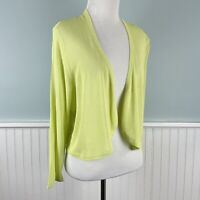 New *Defect Plus Size 1X Soft Surroundings Sheer Bolero Cardigan Sweater Topper