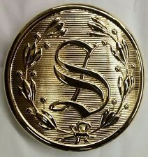 """5 1/2""""  SANTA BELT BUCKLE GOLD PLATED  FITS 3 3/4"""" BELT"""