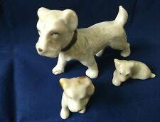 Vntg Skye/Sealyham White Terrier Puppy Dog Porcelain Ceramic Figurines Japan