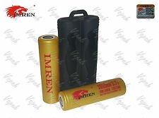 2 Imren GOLD 3500mAh/15A/30A 18650F Rechargeable Battery / Black Silicone Case