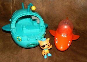 Octonauts Gup-B Orange Shark Submarine W/ Figure Lot Kwazi + Gup A Submarine