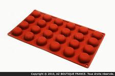 Paderno  Moule demi-sphère | Moule flexible en silicone - 24 demi-sphères pompon
