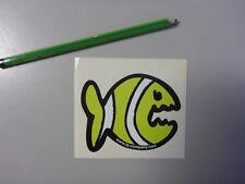 IQ Fisch Sticker Aufkleber grün