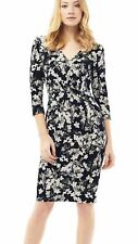 PHASE EIGHT MOLLIE DRESS. SIZE 12. BLACK, IVORY & GREY FLORAL. BNWT. GORGEOUS