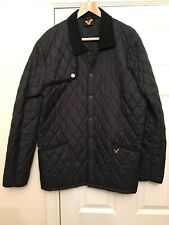 Mens Voi Jeans Black Quilted Jacket / Coat Size XL