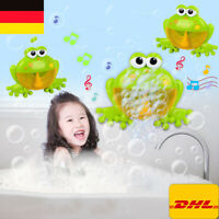 DE Kind Baby Bubble Badewanne Frosch Automatische Dusche Bad Musik Spielzeug DHL