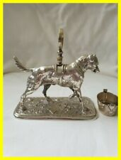 More details for a victorian diamond registration silver plated dog condiment set holder