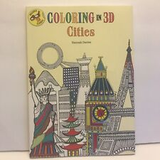 Coloring in 3D (Cities )by Hannah Davies (2016, Paperback)  W/ 3D Glasses-New