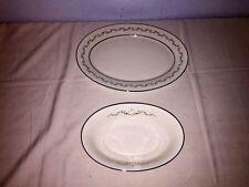 Oxford HOLYOKE Serving Dishes (2 Pcs) ~ Platter ~ Serving Bowl (Div. of Lenox)