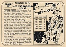 1968 TV GOLF AD~CANADIAN OPEN~ST GEORGE'S COUNTRY CLUB ISLINGTON,ONTARIO