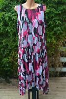 NEW rrp$149.95 Noni B Beautiful Summer PARTY DRESS Size 1XL-18/20 Fuschia Mesh