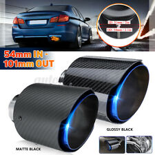 54mm-In 101mm-Out Carbon Fiber Universal Car Exhaust Pipe Tail Muffler End Tip
