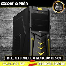 Caja ATX Ordenador Pc Gaming de Sobremesa Torre Devil Amarilla USB C/Fuente