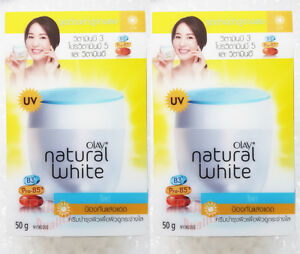 2 x OLAY NATURAL WHITE HEALTHY ALL IN ONE FAIRNESS DAY CREAM SPF24 50g