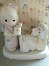Precious Moment Figurine - Make Me A Blessing - 100102 - Retired 1990