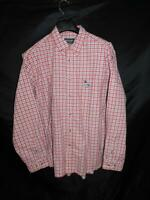 Eddie Bauer L NWT Red Blue White Plaid Shirt Button Down Cotton Long Sleeve Mens