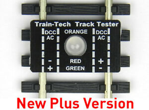 Track Tester Train Tech OO / HO / TT / N Indicates DCC/DC polarity or fault TT1+