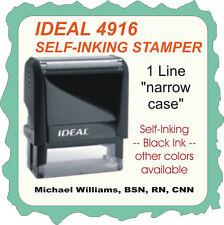 Custom 1 Line On Narrow Case Trodat Ideal Self Inking Rubber Stamp 4916 Black