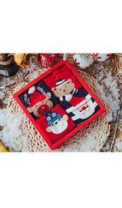 eBoutik - Festive Gift Set - Set of 4 Christmas Design Socks, with Gift Box