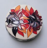 Moorcroft Ruby Red Design Lidded Pot - Made in England