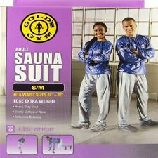 """Golds Gym Adult Sauna Suit S/M Fits Waist Sizes 24"""" - 32"""" $17.87 FREE SHIPPING"""