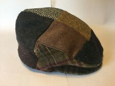 Hats Of Ireland Hand Tailored Achill Patch 100% Wool Medium 7 1/8 Cabbie Newsboy