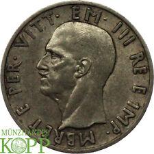 V801) Albanie 5 Lek 1939 r-vittorio Emanuele III. 1939-1943 - Argent