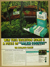 1972 Rondesics round vacation home Sweepstakes Salem Cigarettes vintage print Ad