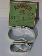 RARE ANTIQUE ASWECO KINDLERS FLORENCE BURNERS 8902 8903 MINT IN BOX OLD STOCK