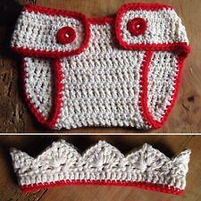 Disfraz Crochet Conjunto Bebe Talla 0/3 Artesanal Atrezo Fotografía Ganchillo.