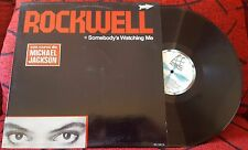 ROCKWELL ***Somebody's Watching Me*** 1984 SPAIN LP w/ MICHAEL JACKSON STICKER!