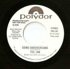 "THE JAM GOING UNDERGROUND US PROMO 7"" 45 RPM 1980 MOD WHO WELLER FOXTON BUCKLER"