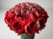 Kunstrosen Arrangement 125cm Rot Kunstblumen künstliche Rosen Rosenblüten Rose