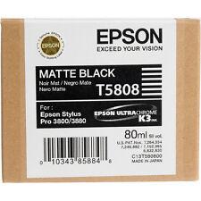 Genuine Epson Pro 3880 T5808 matte black printer ink