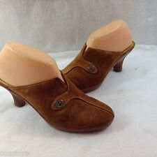 Cole Haan Tan Suede Clogs Shoes Slip On Comfort Leather Midsole Size 8.5 B