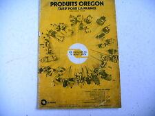 catalogue OREGON tarif guide chaine pignon tronçonneuse 1974