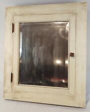 Antique Craftsman Style c1925 Large Wood Inset Medicine Cabinet Mirror