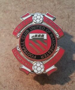 FC UNITED of MANCHESTER - 2006/07 LEAGUE CHAMPIONS ENAMEL BADGE