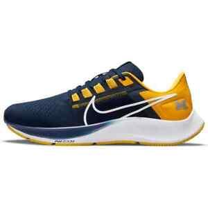 New 2021 NCAA Michigan Wolverines Nike Unisex Zoom Pegasus 38 Running Shoes NIB