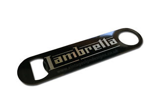 ITALIAN SCOOTER DIGITALLY PRINTED STAINLESS STEEL BEER BOTTLE OPENER.MAN CAVE