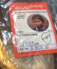 NEW Glorex 23-24 Cm Boy Or Girl Blonde Bebe Doll Wig Switzerland