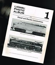 vintage LIONEL Photo Album #1 Pictorial Review with $ Prices: Locomotives,Diesel