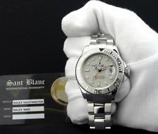 ROLEX - Men's 40mm Platinum & SS YachtMaster 16622 BOX/Books/Warranty SANT BLANC