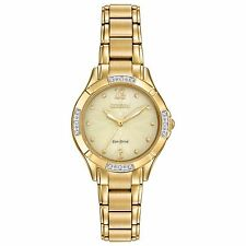 Citizen Eco-Drive Women's EM0452-58P Gold-Tone Champagne Dial 30mm Watch