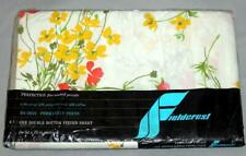Vintage Fieldcrest FRAGRANCE Percale Floral Bright Colors Full Fitted Sheet NIP